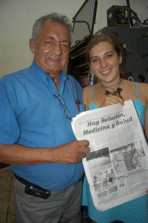 Nadine Fessler arbeitet als Journalistin unter anderem bei der Zeitung La Region in Peru unter Chefredakteur Dr. Oskar Olavarria