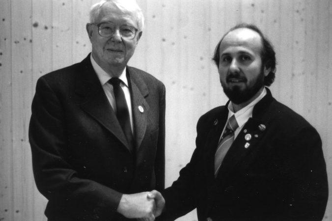 Dr. Helmut Pelz und Wolfgang Fessler