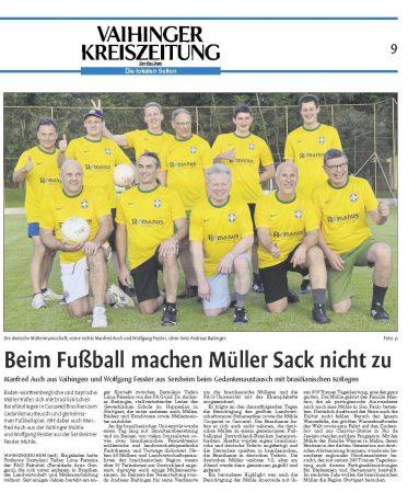 Für die Vaihinger Kreiszeitung berichtet