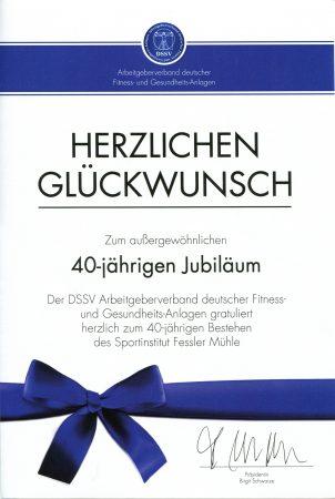 40 Jahre Sportinstitut Fessler Mühle