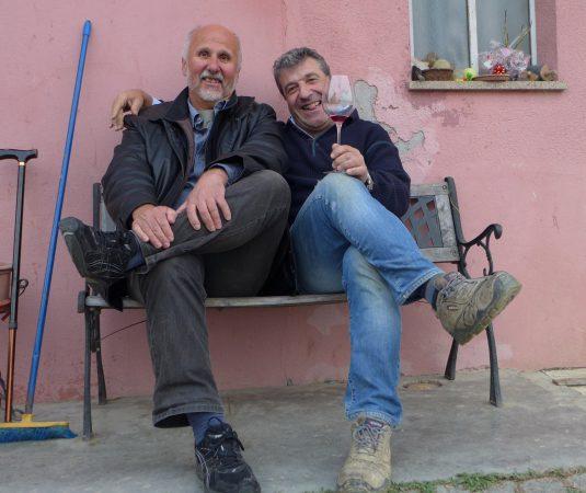 Freunde: Angelo vom Weingut Ca'Rossa und Wolfgang Fessler