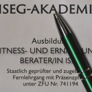 Anmeldung zum Fernlehrgang Fitness- und Ernährungsberater/in ISEG