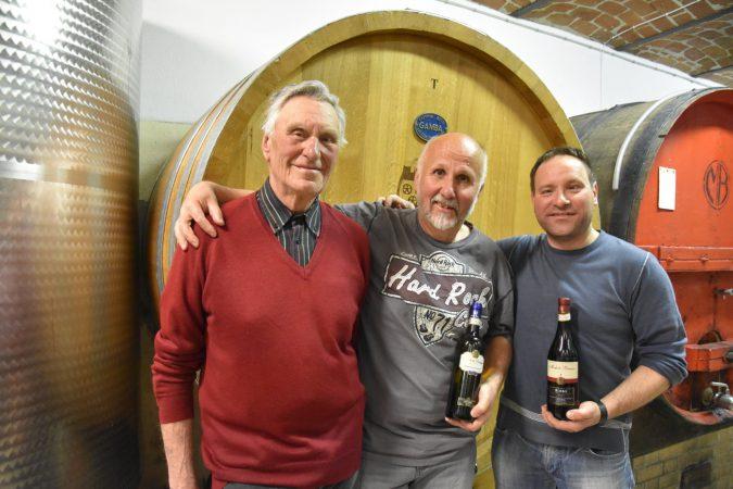 Freunde: Michele und Gianni Brezzo sowie Wolfgang Fessler