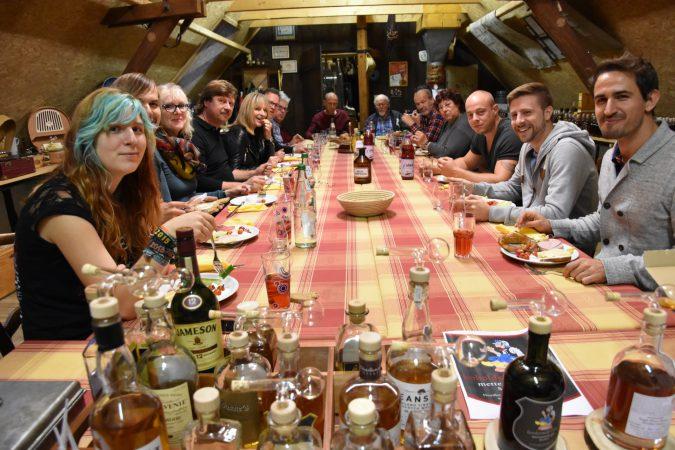 Whisky-Tasting im Beutelkasten der fesslermill