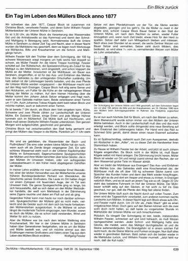 Über Mühle und Müller berichtet