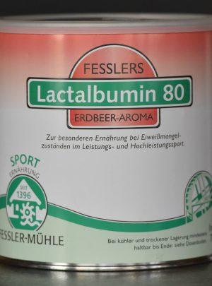 Fesslers Lactalbumin 80 Vanille, Banane, Schoko und Erdbeere