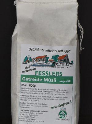 Fesslers Getreidemüsli ungesüßt