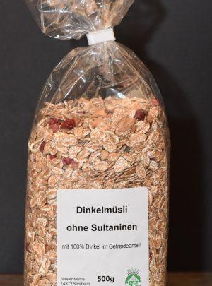 Dinkelmüsli ohne Sultaninen
