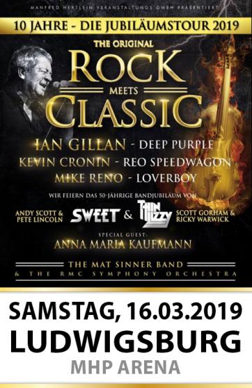 10 Jahre – Die große Jubiläums-Tour 2019 Rock meets Classic